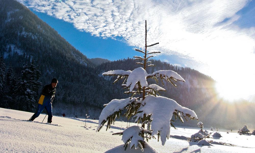 Langlaufurlaub-Bayern-Schneeschuhwandern