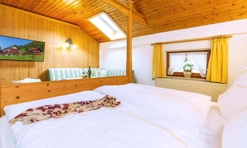 Unterkunft-Ruhpolding-Doppel- und 3-Bettzimmer ohne Balkon