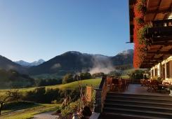 Urlaub auf dem Balkon von Ruhpolding
